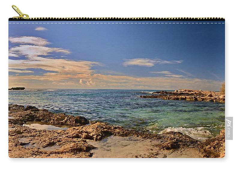 Landscapes Carry-all Pouch featuring the photograph Cyprus Coast by Steven Liveoak
