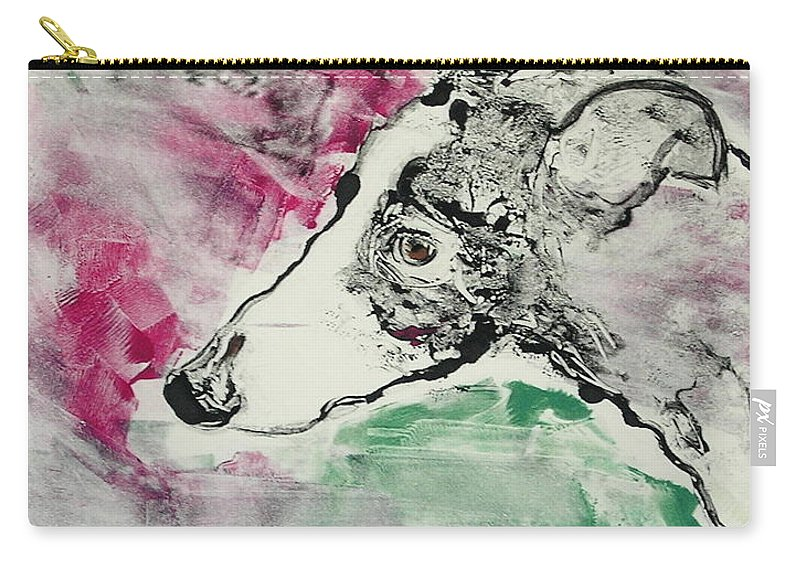 Greyhound Carry-all Pouch featuring the painting Cyrus by Cori Solomon
