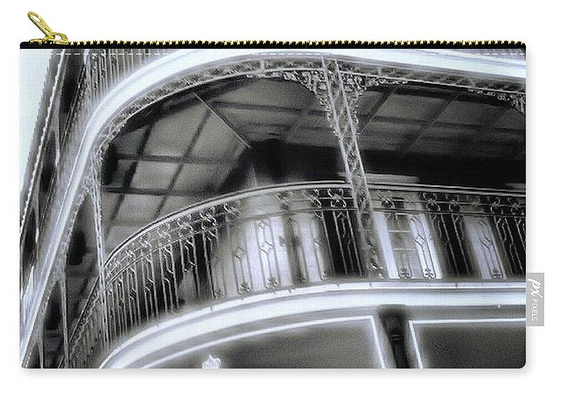 Black And White Carry-all Pouch featuring the photograph Da Name O Da Game by Robert McCubbin