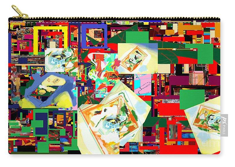 Daas Carry-all Pouch featuring the digital art Daas 18a by David Baruch Wolk
