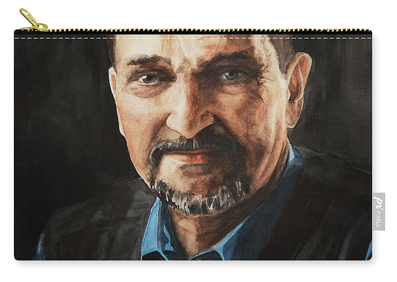 Adult Carry-all Pouch featuring the painting Dad by Masha Batkova