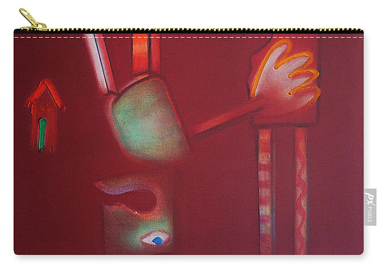 Daedalus Carry-all Pouch featuring the painting Daedalus And Icarus by Charles Stuart