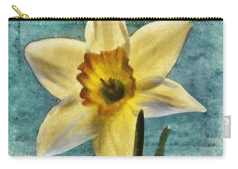 Bloom Carry-all Pouch featuring the painting Daffodil by Jeffrey Kolker