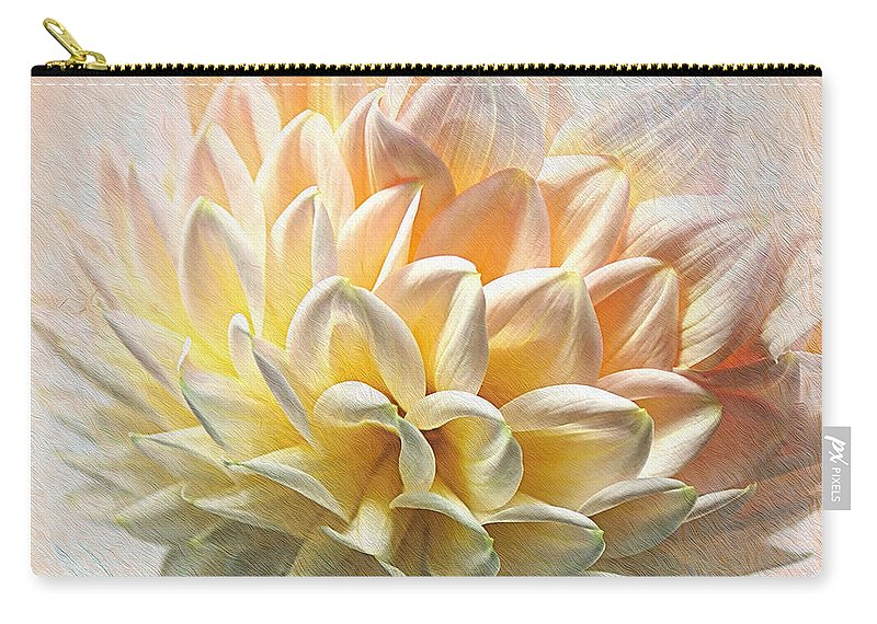Photography Carry-all Pouch featuring the photograph Dahlia Art by Kaye Menner