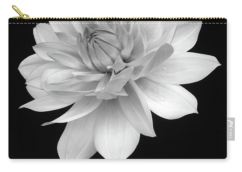 Haslemere Carry-all Pouch featuring the photograph Dahlia In Gentle Shades Of Grey by Rosemary Calvert