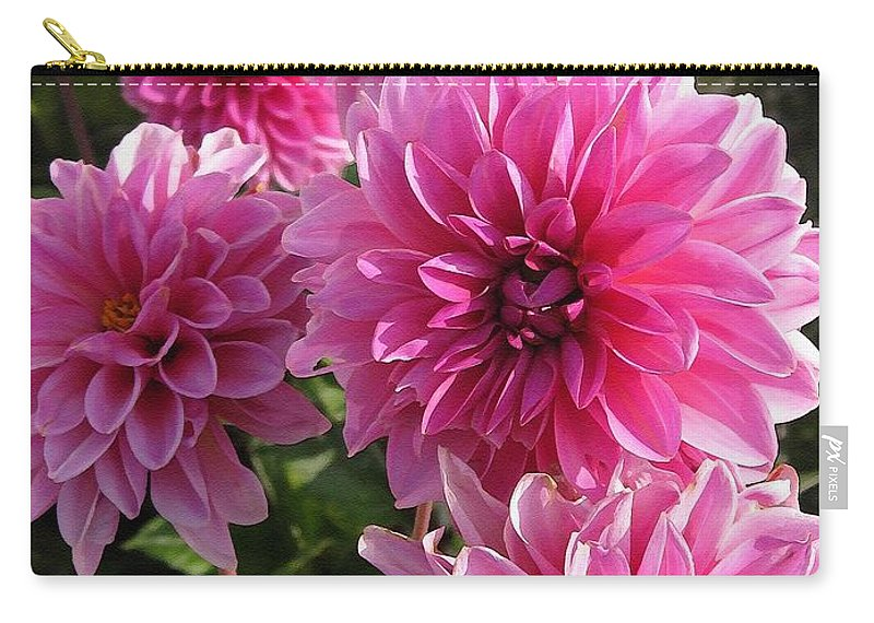 Dahlia Carry-all Pouch featuring the painting Dahlia Named Lucky Number by J McCombie