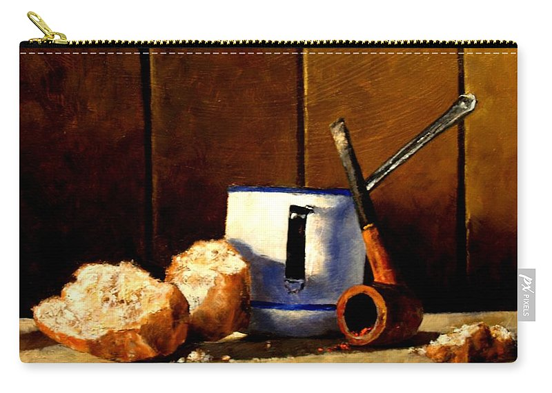 Still Life Carry-all Pouch featuring the painting Daily Bread Ver 1 by Jim Gola