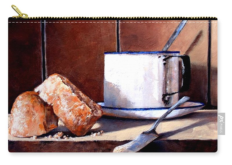 Still Life Carry-all Pouch featuring the painting Daily Bread Ver 2 by Jim Gola