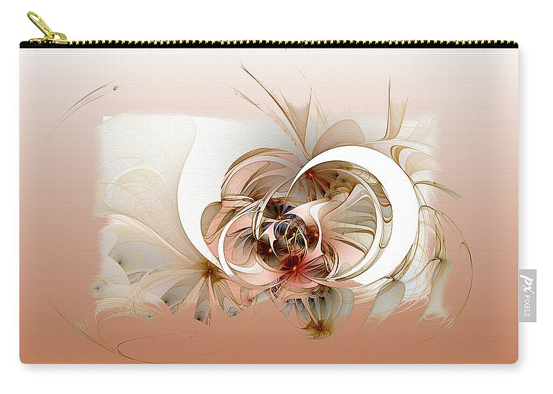 Digital Art Carry-all Pouch featuring the digital art Daisies II by Amanda Moore