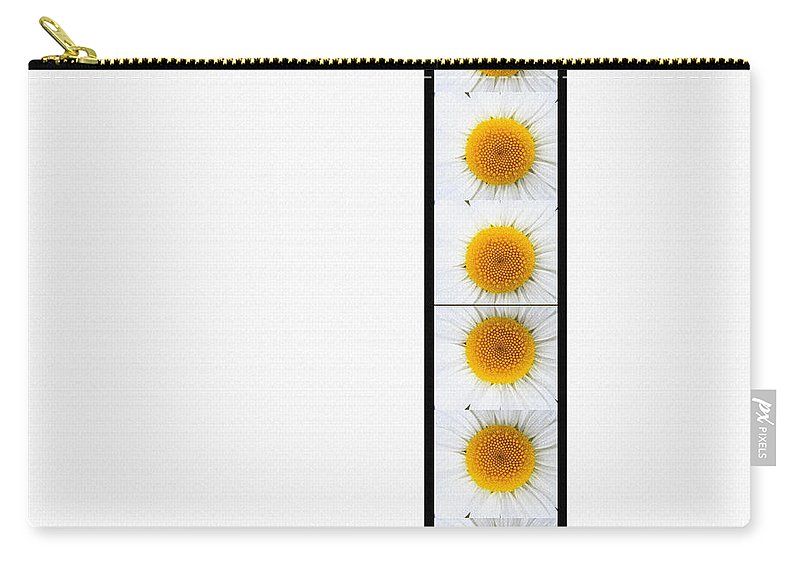 Daisies On White Carry-all Pouch featuring the digital art Daisies On White by Barbara Griffin