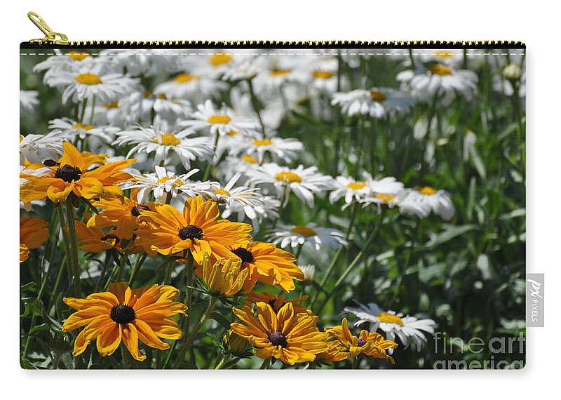 Flora Carry-all Pouch featuring the photograph Daisy Fields by Bianca Nadeau