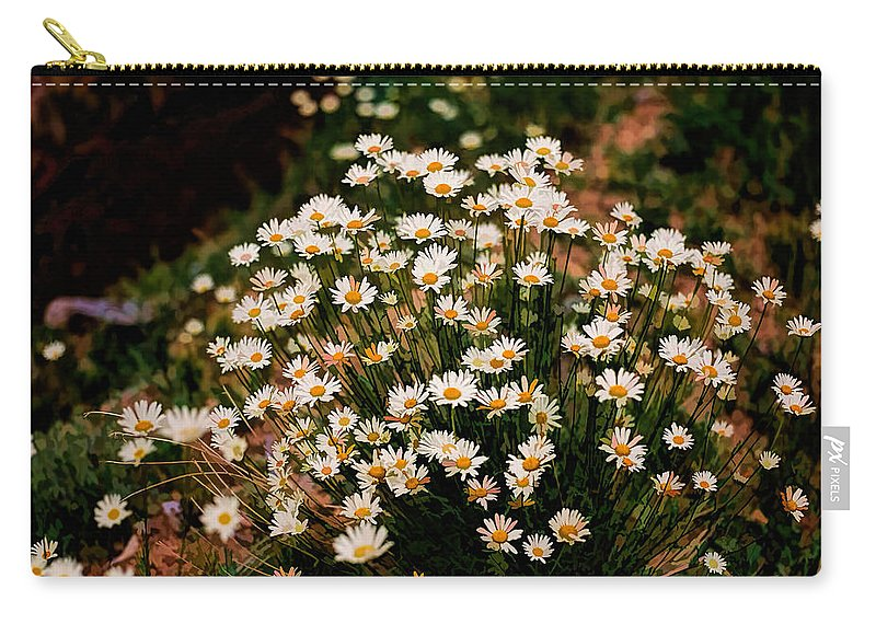 Daisy Carry-all Pouch featuring the photograph Daisy - Give Me Your Answer Do by Jon Burch Photography