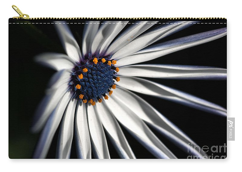 Daisy Carry-all Pouch featuring the photograph Daisy Heart by Joy Watson