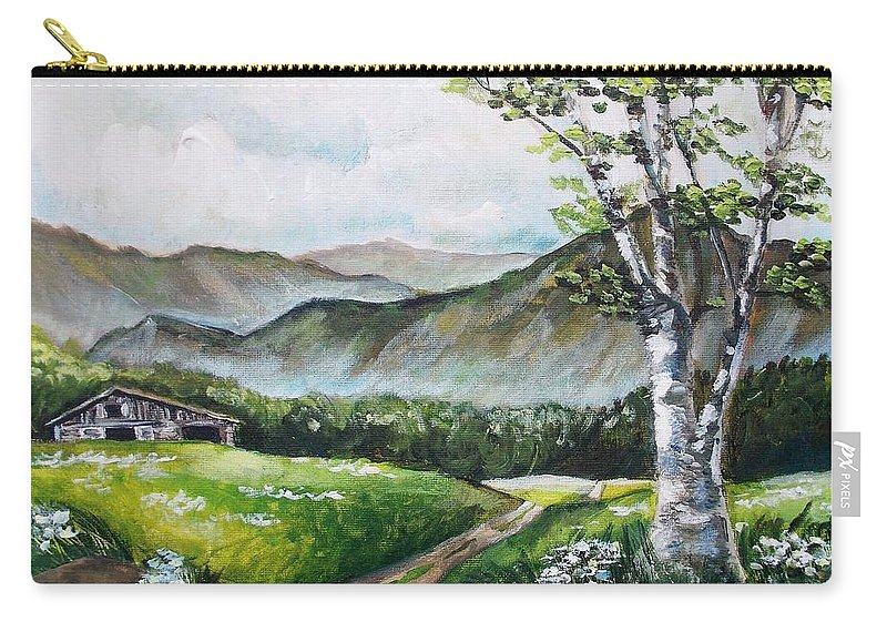 Barn Carry-all Pouch featuring the painting Daisy Lane by Shana Rowe Jackson