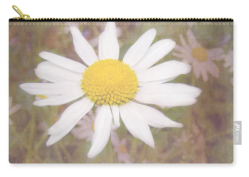 Daisy Textured Carry-all Pouch featuring the photograph Daisy Textured by Cynthia Woods