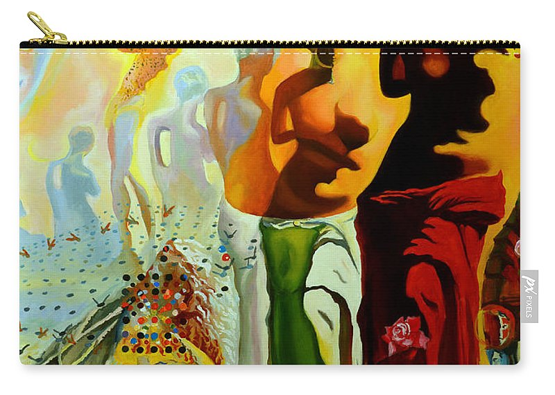 Salvador Dali Carry-all Pouch featuring the painting Dali Oil Painting Reproduction - The Hallucinogenic Toreador by Mona Edulesco
