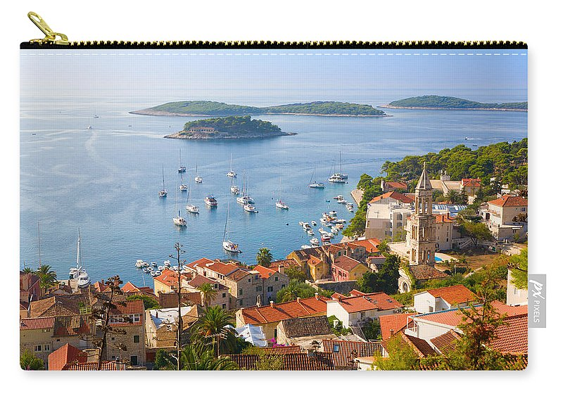 Hvar Carry-all Pouch featuring the photograph Dalmatian Coast by Alexey Stiop
