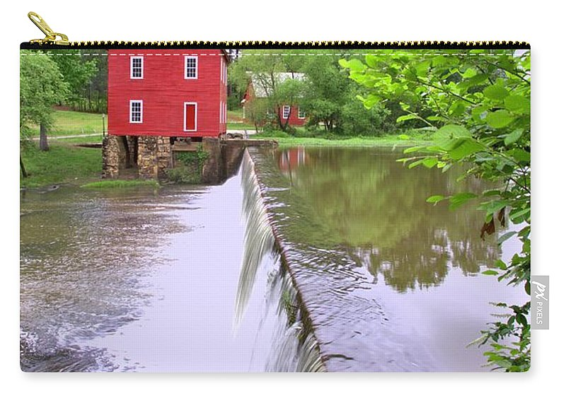 8595 Carry-all Pouch featuring the photograph Dam At Starrs Mill by Gordon Elwell