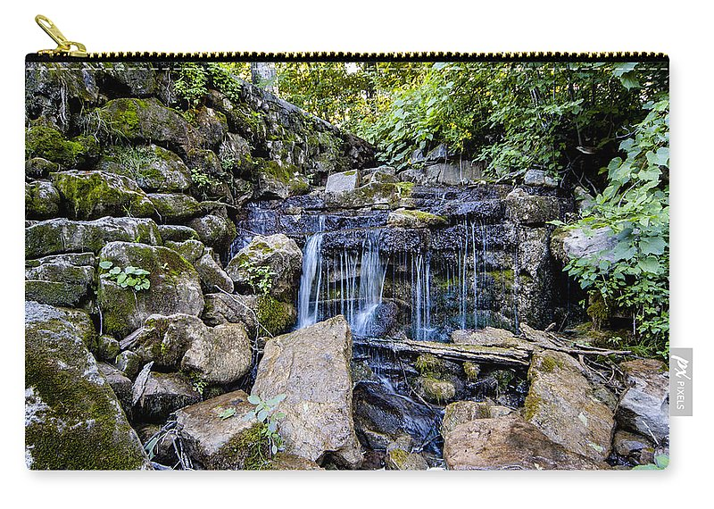 Walter's Carry-all Pouch featuring the photograph Dam Spillover by Richard Kitchen