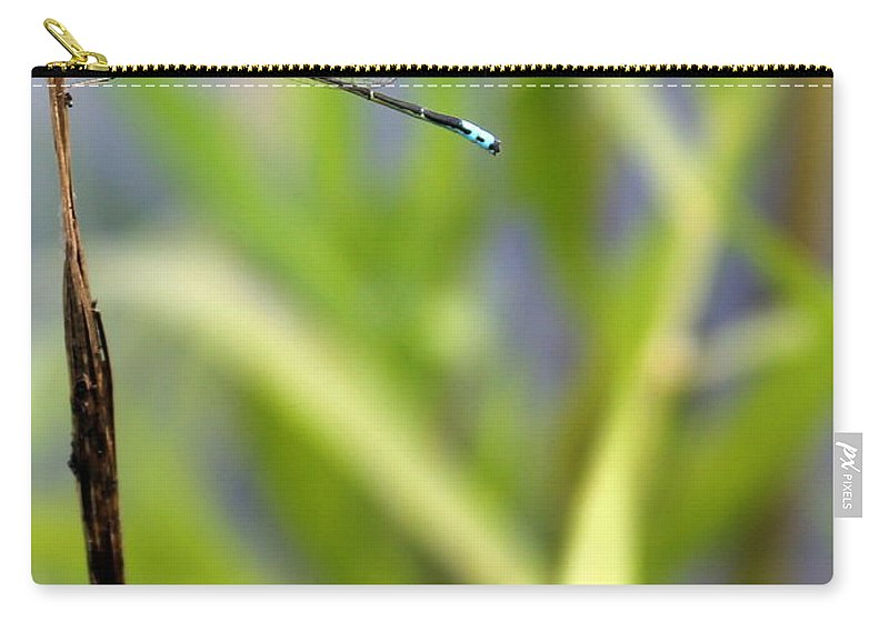 Damselfly Carry-all Pouch featuring the photograph Damselfly Courting by Renee Croushore