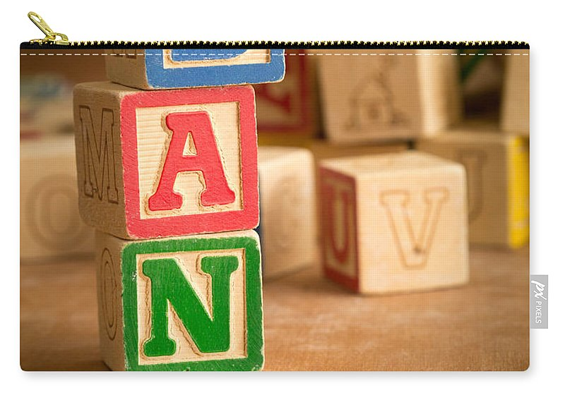 Abs Carry-all Pouch featuring the photograph Dan - Alphabet Blocks by Edward Fielding