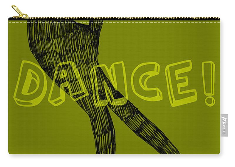 Text Carry-all Pouch featuring the digital art Dance Dance Dance by Michelle Calkins