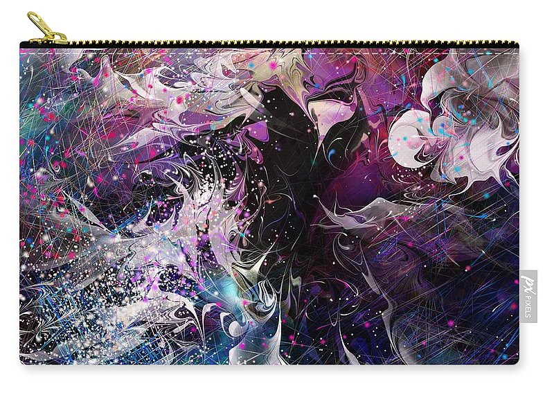Fantasy Carry-all Pouch featuring the digital art Dance In The Seas by Rachel Christine Nowicki