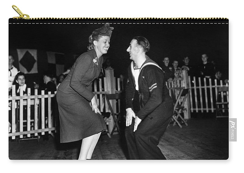 1940 Carry-all Pouch featuring the photograph Dance: Lambeth Walk, C1940 by Granger
