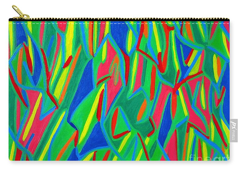 Eunice Broderick Carry-all Pouch featuring the painting Dance Of Colors by Eunice Broderick