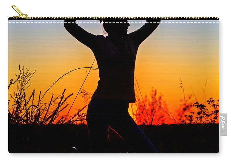 Silhouette Carry-all Pouch featuring the photograph Dance Of Joy by Sennie Pierson