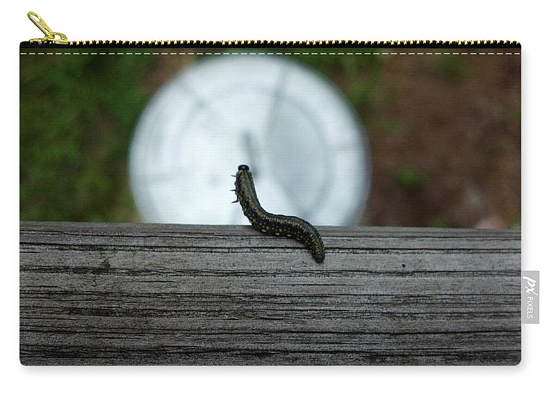 Caterpillar Carry-all Pouch featuring the photograph Dance Of The Caterpillar by Lisa Wormell