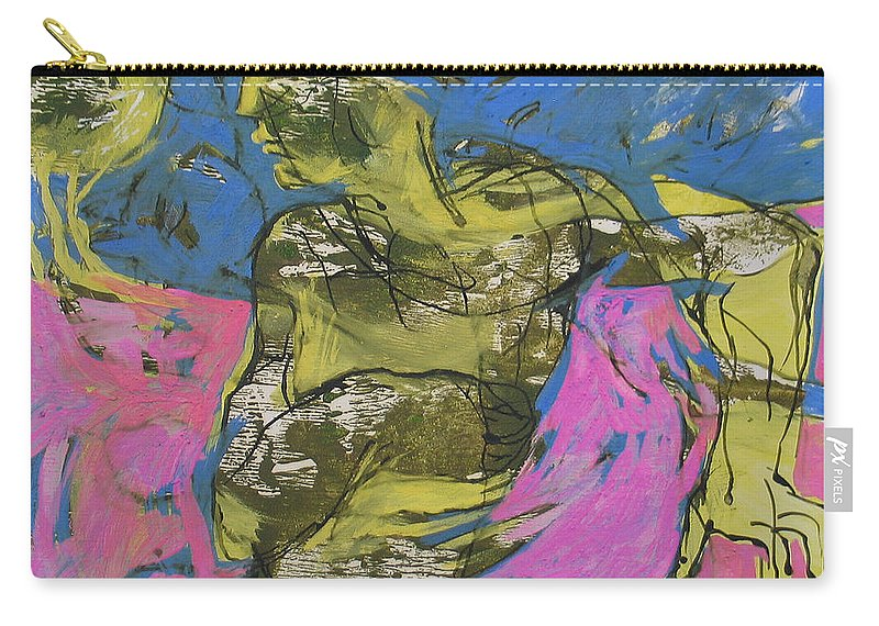 Dance Carry-all Pouch featuring the painting Dance Solo by Naser Mohammadi