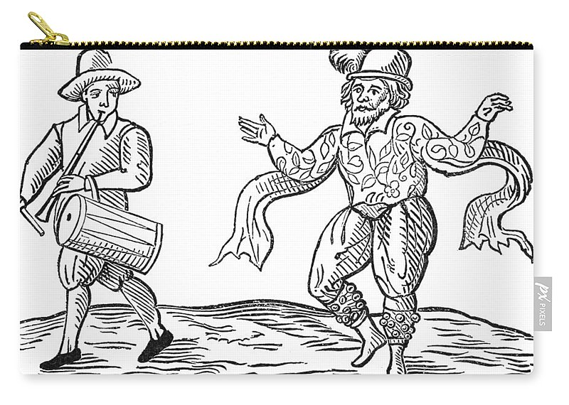 1599 Carry-all Pouch featuring the painting Dance The Morris, 1600 by Granger