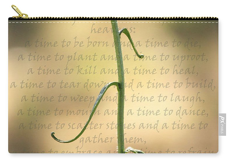 Daisy Carry-all Pouch featuring the photograph Dance With Me by Karen Beasley