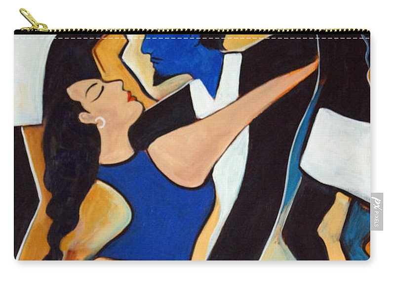 Tango Carry-all Pouch featuring the painting Dance with Me by Valerie Vescovi