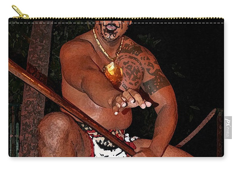 Hawaii Carry-all Pouch featuring the photograph Dancer From The Islands. by Athala Carole Bruckner