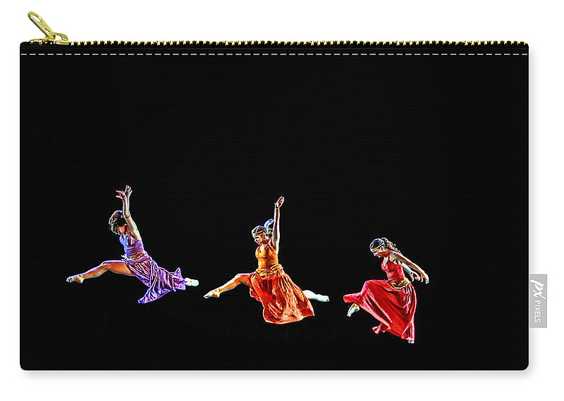 Dancers Carry-all Pouch featuring the photograph Dancers In Flight by Bill Howard