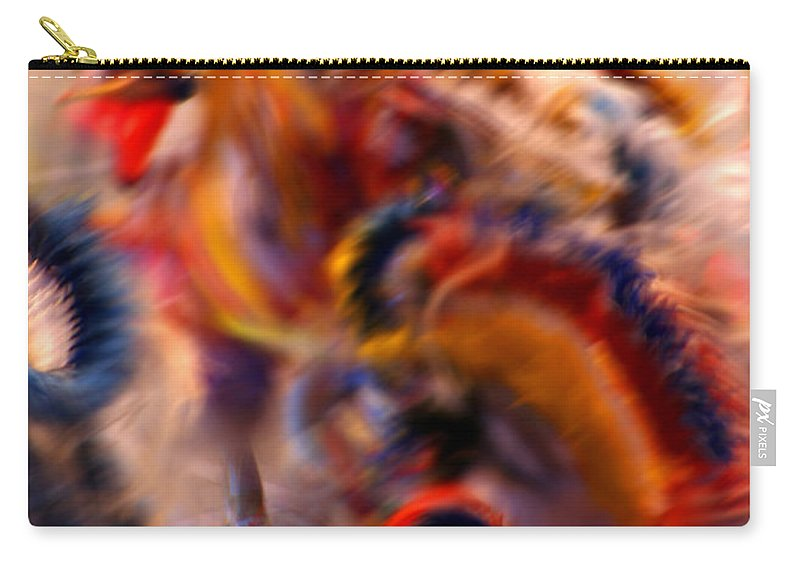 Pow Wow Carry-all Pouch featuring the photograph Dancers by Joe Kozlowski