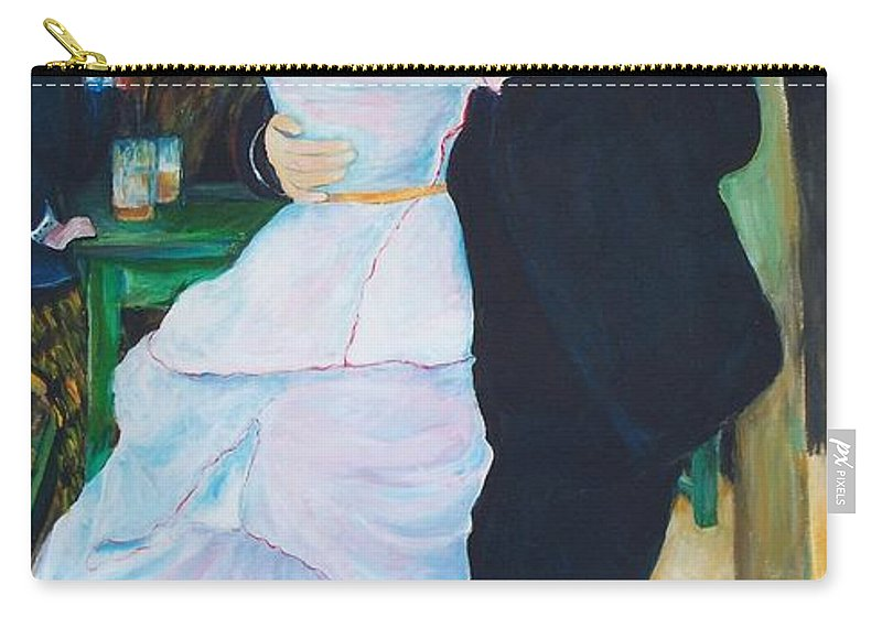 Dancing Painting Carry-all Pouch featuring the painting Dancing Couple by Eric Schiabor