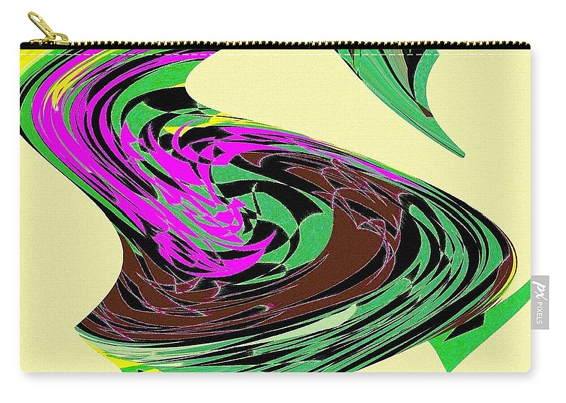 Abstract Carry-all Pouch featuring the digital art Dancing Goose 2 by Will Borden