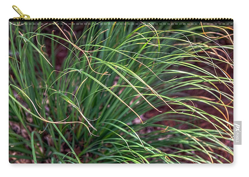 Grass Carry-all Pouch featuring the photograph Dancing In The Wind by Sennie Pierson