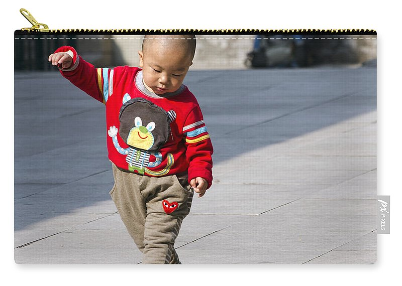 Niujie Mosque Carry-all Pouch featuring the photograph Dancing by Terri Winkler