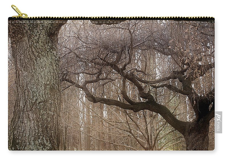 Trees Carry-all Pouch featuring the photograph Dancing Trees by Donna Haggerty