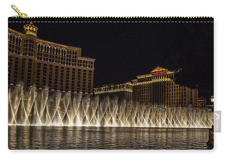 Las Vegas Carry-all Pouch featuring the photograph Dancing Waters 3 by Angus Hooper Iii