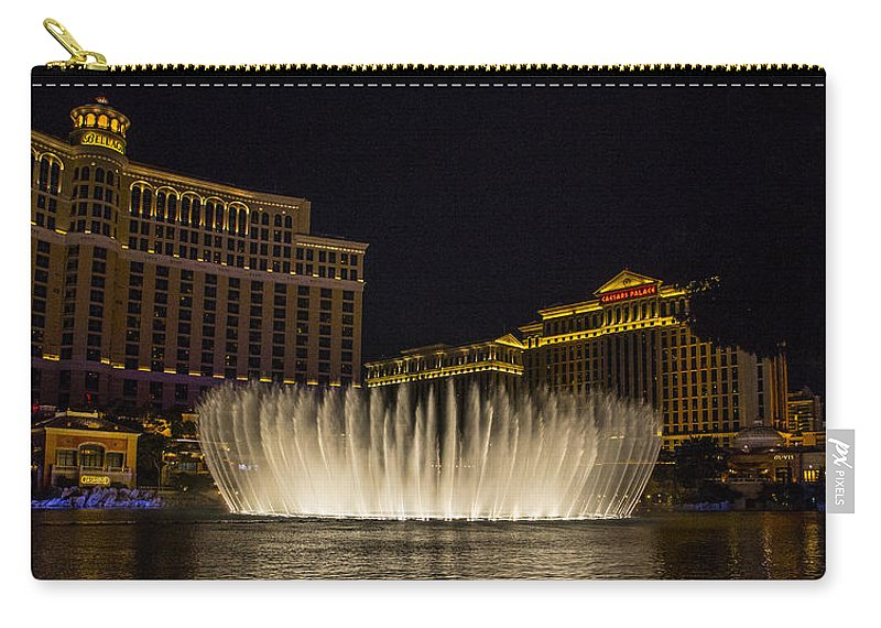 Las Vegas Carry-all Pouch featuring the photograph Dancing Waters 8 by Angus Hooper Iii