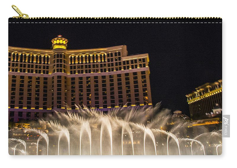 Las Vegas Carry-all Pouch featuring the photograph Dancing Waters by Angus Hooper Iii