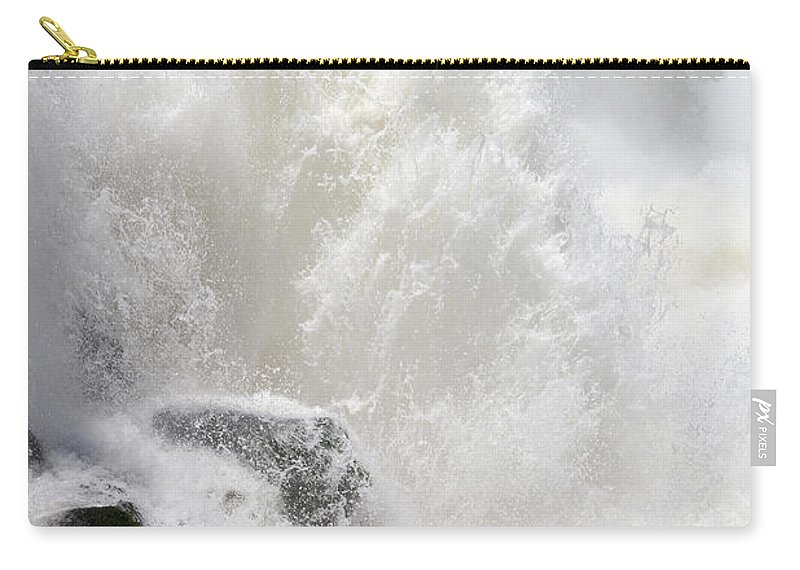 Waterfall Carry-all Pouch featuring the photograph Dancing Waters by Ginny Barklow