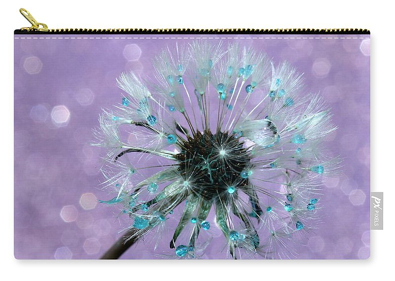 Dandelion Carry-all Pouch featuring the photograph Dandelion Dreams by Krissy Katsimbras