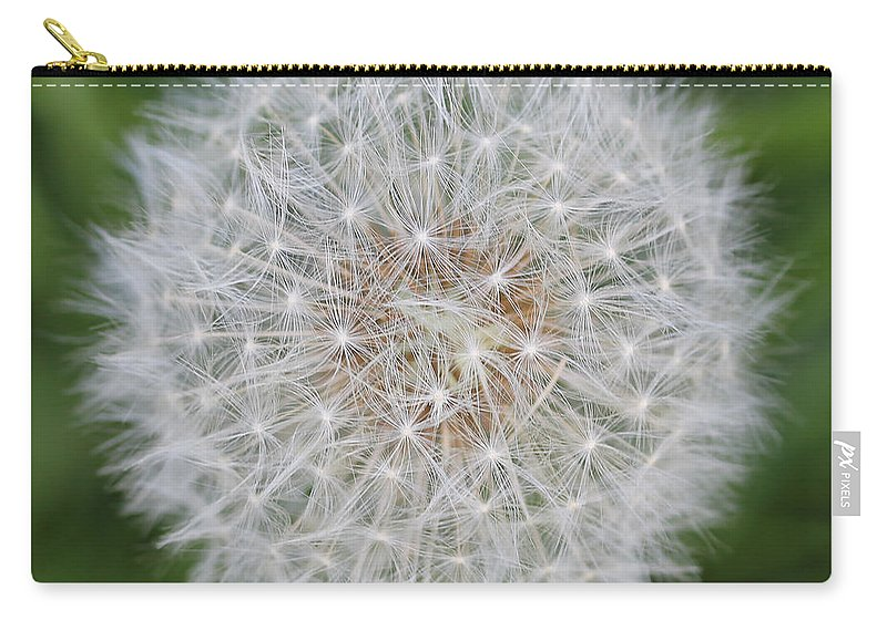 Dandelion Carry-all Pouch featuring the photograph Dandelion Marco Abstract by Jennie Marie Schell