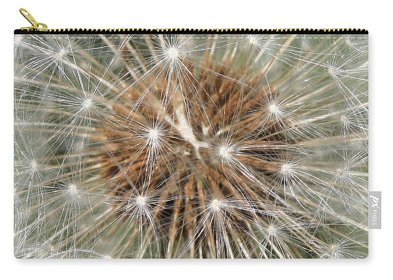 Dandelion Carry-all Pouch featuring the photograph Dandelion Square by Carol Groenen